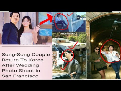 Song JoongKi HyeKyo Return To Korea Already After Holding Wedding Photoshoot In San Francisco