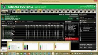 Live Fantasy Football 10 Team PPR Mock Draft