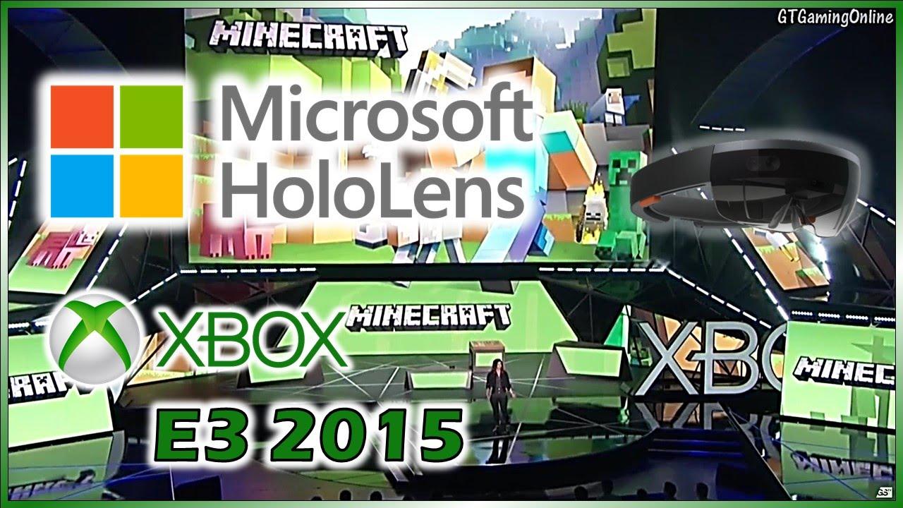 c2bab3e1c67 Microsoft HoloLens - Official E3 2015 Presentation at the Xbox Press  Conference  Minecraft