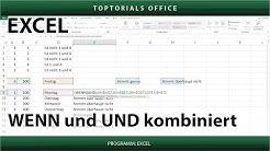 WENN und UND kombiniert (Excel)
