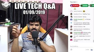 Sunday Live Tech Q&A  1 september 2019 ll Prasad tech in Telugu ll