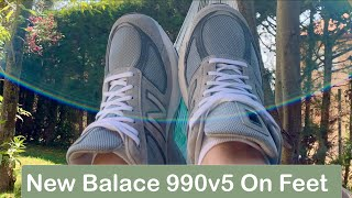 New Balance 990 v5 Grey On Fee…