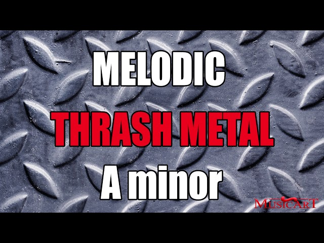 Melodic Thrash Metal Backing Track in A minor (Triplets)