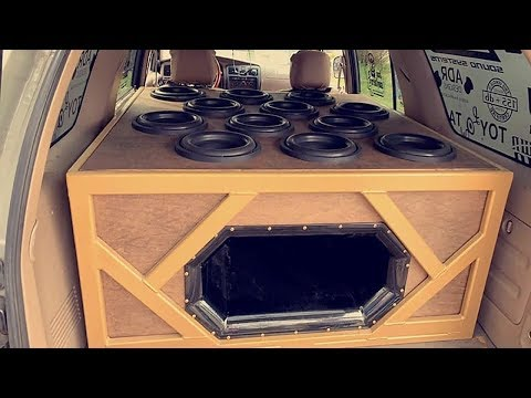 FIRST STEEL FABRICATED SUBWOOFER BOX I HAVE EVER SEEN!? 12 10S CRAZY FLEX!!!