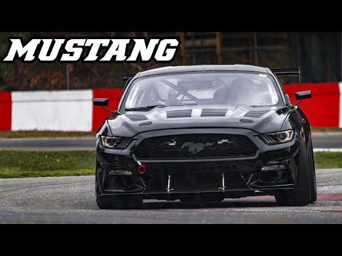 Ford Mustang V8 - Backfire & loud V8 sounds (Zolder 2018)