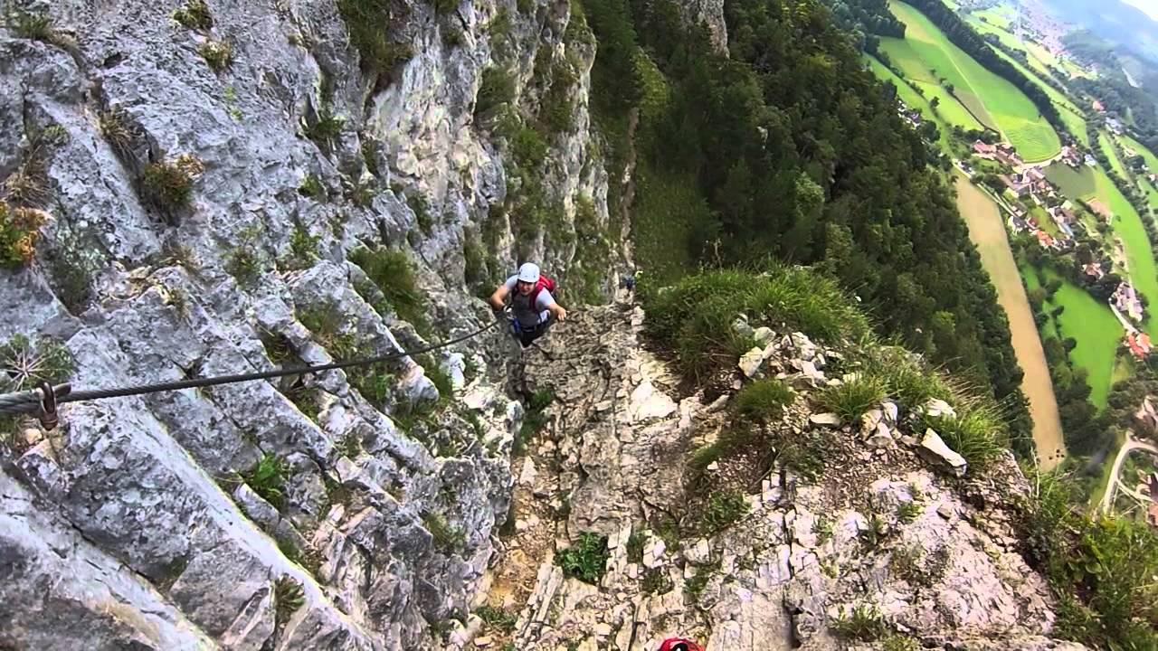 Pittentaler Klettersteig : Pittentaler klettersteig via ferrata youtube