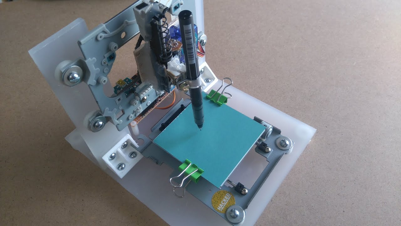 Arduino mini cnc plotter from cd dvd drives fhd youtube