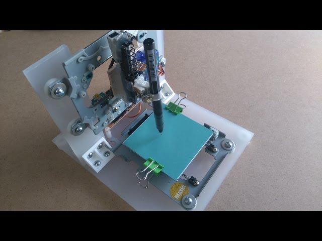 Arduino mini cnc plotter from cd dvd drives fhd vid