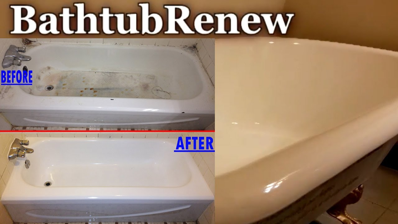 Bathtub Renew Reglazing Refinishing Porcelain Resurfacing - YouTube