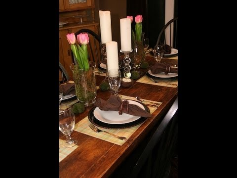 DIY: Spring Table Setting | Decorating Ideas | ShowMeCute - YouTube