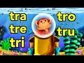 Sílabas tra tre tri tro tru - El Mono Sílabo - Videos Infantiles - Educación para Niños #