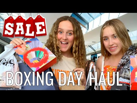 HUGE SALE SHOPPING SPREE! Come Shop With Me At Boxing Day Sales!
