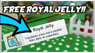 HOW TO GET FREE ROYAL JELLY! | Bee Swarm Simulator | Roblox
