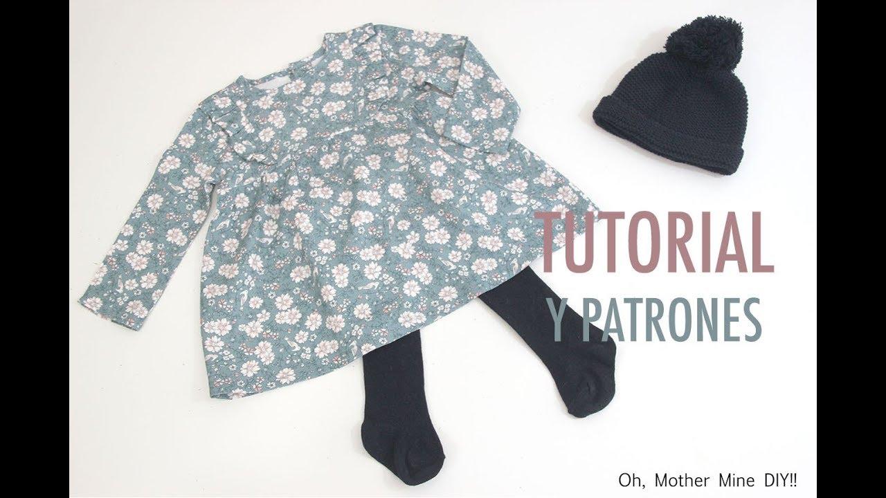 DIY Costura de vestidos para niñas (patrones gratis) - YouTube