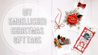 DIY Christmas Gift Tags | Shaker Tag Tutorial + 2 Embellished Tags