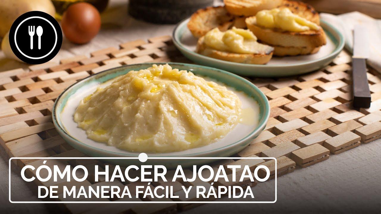 Cómo hacer AJOATAO de manera fácil y rápida. Receta típica de Jaén
