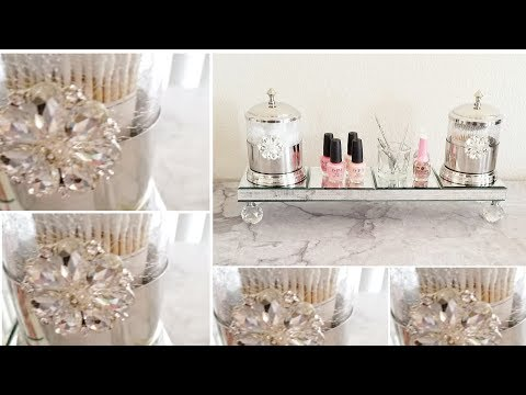 DIY |  GLAM NAIL POLISH AND MAKE-UP DECOR | QUICK AND EASY DIY | HIGH-END LUXURY DECOR