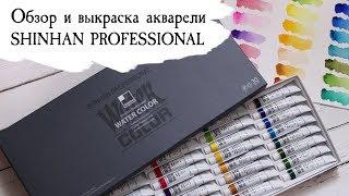 Акварель ShinHan Professional | Розпакування і выкраска всіх кольорів