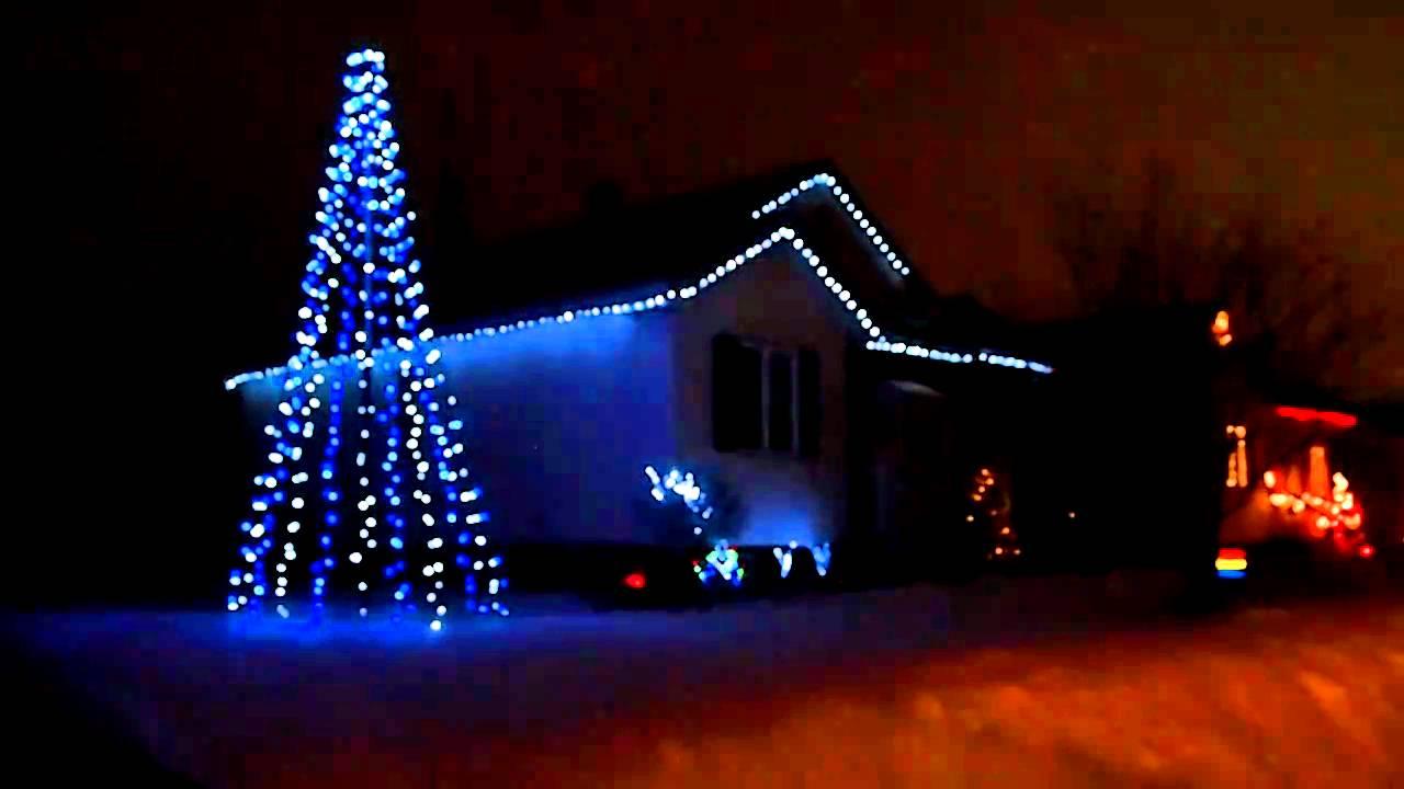 Christmas Lights Show - Amazing Grace Techno 2010 - YouTube