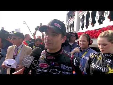 Jeff Gordon WINS Pocono 2011 - Victory Lane Interview