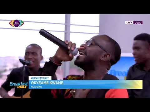 Okyeame Kwame spends Ghana's memorable 62nd independence anniversary with Citi TV
