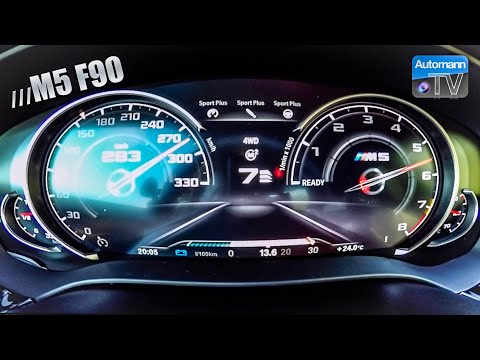 BMW M5 F90 (600hp) - 0-300 Km/h Acceleration (60FPS)