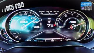 BMW M5 F90 (600hp) - 0-300 km/h acceleration (60FPS)