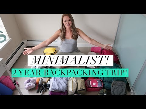 Minimalist Travel | What I packed for 2 Year Backpacking Trip!!