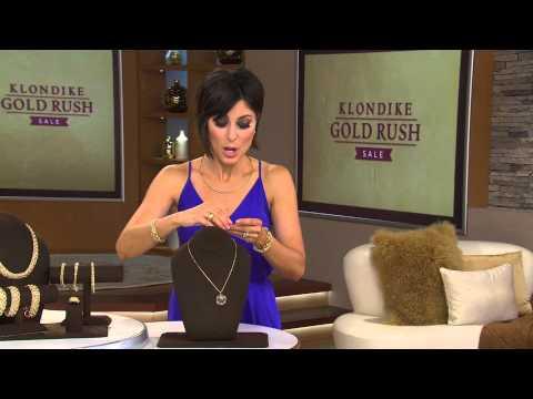 VicenzaGold Centennial 500 Lire Coin Pendant 14K Gold with Lisa Robertson