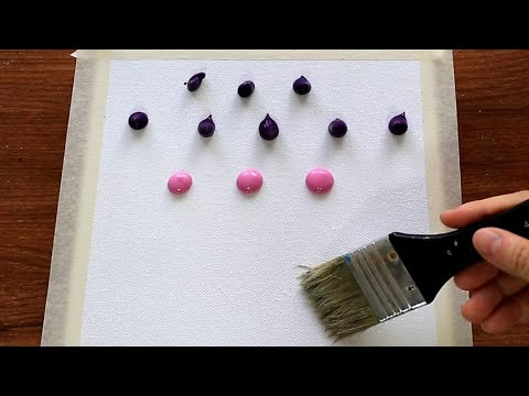 Easy & Simple Landscape Acrylic Painting techniques on canvas #138|Satisfying Abstract Demonstration