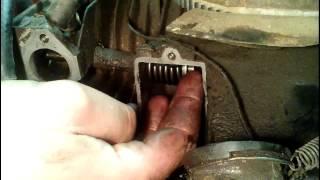 Repairing intake vavle leak, briggs and stratton flathead.