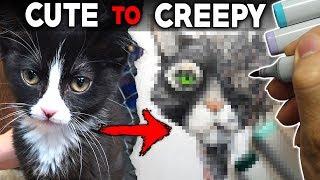 CUTE to CREEPY Art Challenge! + Creepypasta Storytime