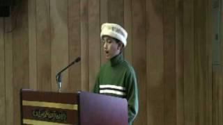 Philadelphia Musleh Maud Day- 2/22/2009 Atfal speech: Usman URDU