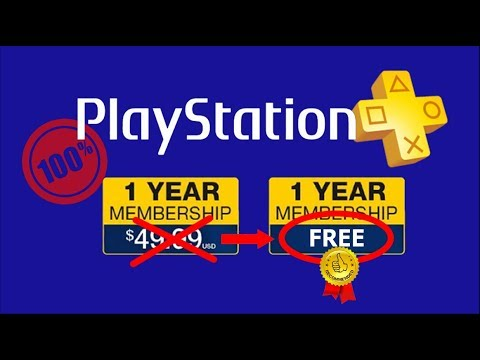 FREE PS PLUS (No Credit Card) Easiest Method - 2018 Version