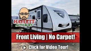 UPDATED 2020 Winnebago 2500FL Front Living Carpetless Half Ton Travel Trailer