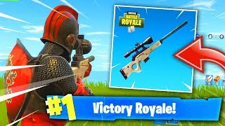 """SNIPER ONLY SOLO SQUAD WIN IN Fortnite: Battle Royale! (New """"Sniper Shootout"""" Game Mode!)"""