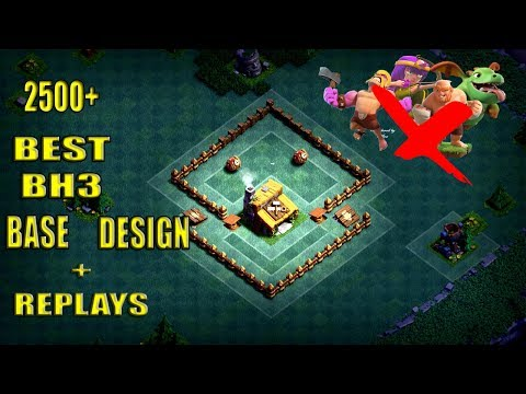 Builder Hall 3 Base / BH3 Builder Base + Defense Replay / Base Layout | Clash of Clans