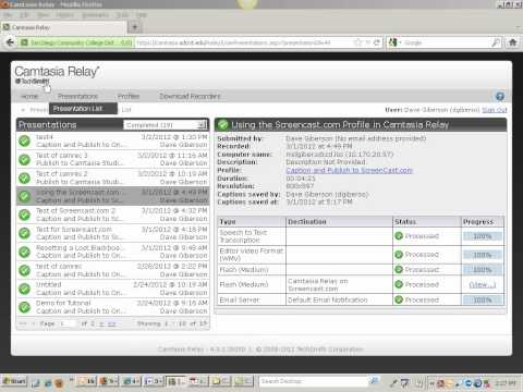 Manage your Camtasia Relay Account