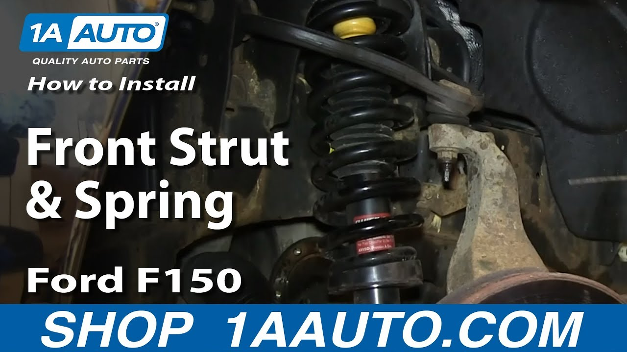 How To Replace Front Strut and Spring 0408 Ford F150  YouTube