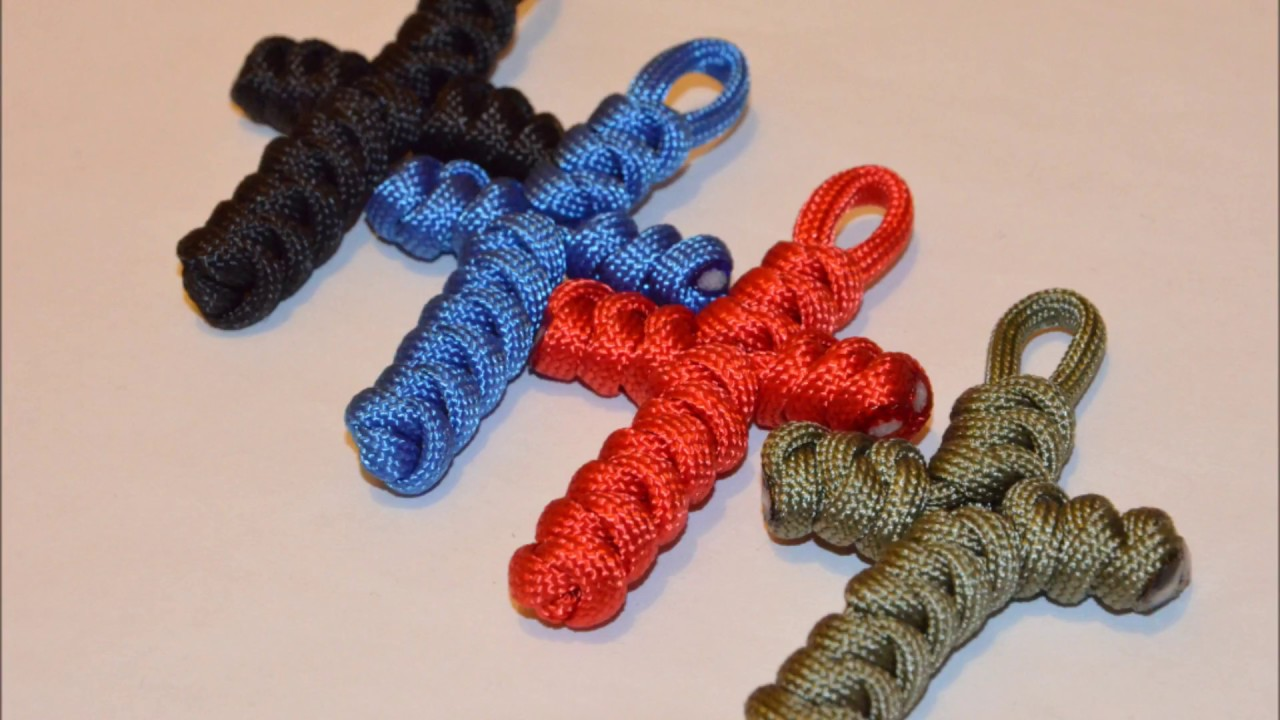 Paracord Kreuz Tutorial Deutsch Youtube
