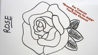 How to Draw- (Gulab) 3D Rose Flower Step by Step Tutorial for Kids and Beginners