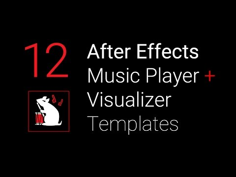 f1rstpers0n's Music Player + Visualizer After Effects Templates