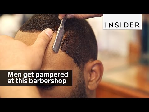 Men get fully pampered at this NYC barbershop