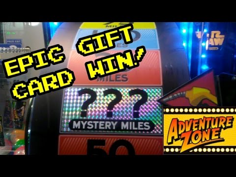 MAJOR WIN ON ROAD TRIP ARCADE GAME!!! GIFT CARD WON!!!