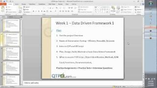QTP Training Day 01 3 min preview VB Scripting Descriptive Programming Frameworks