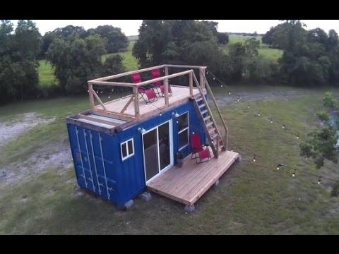 видео: Отличный маленький домик из морского контейнера