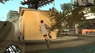 делаю трюки в Gta San Andreas BMX часть 1
