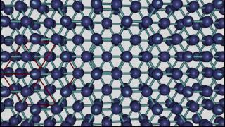 Kristallstruktur von Silizium (Silicium), Diamant und Germanium.