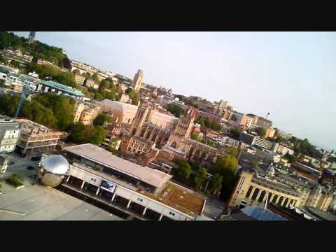 Bristol's Floating Harbour shot from RC aircraft using HD Key cam