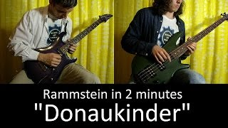 29) Rammstein - Donaukinder (Guitar & Bass cover + TAB lesson HD)